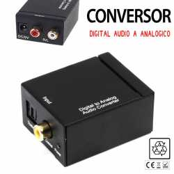 Conversor De Audio Digital Optico A Analogico Coaxial Adaptador RCA Convertidor