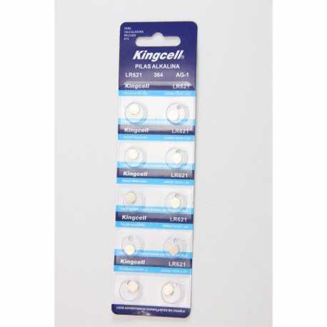 Pilas de boton KINGCELL AG 1 en blister