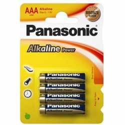 Panasonic AA (LR06) pilas alcalinas last energy pack de 4